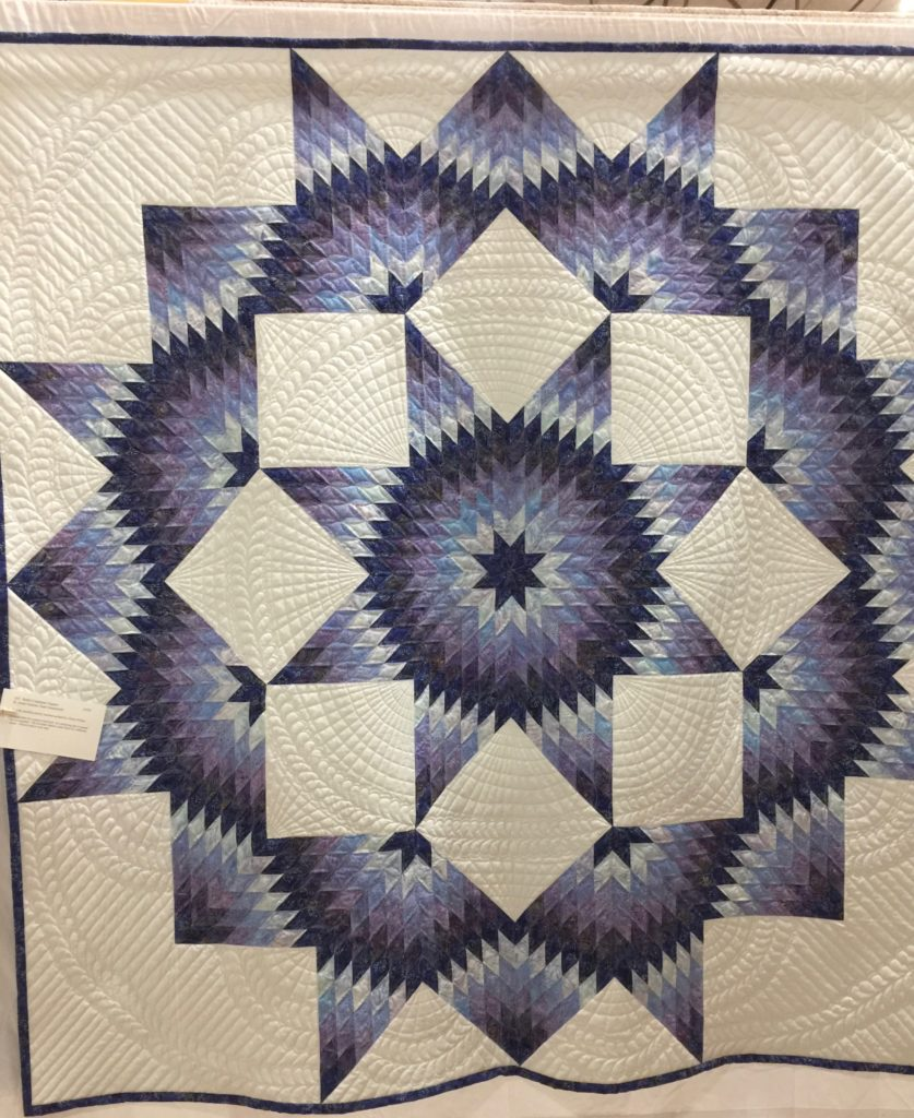Rob's Carpenter's Star by BAnne Greene Quilters by the Sea show 2017, Viewer's Choice 3rd place
