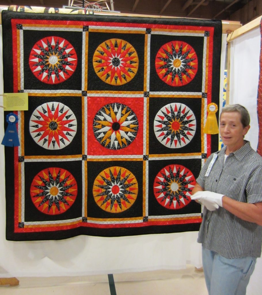 Mariner's Compass by Robin Babb President's Choice at the Quilters by the Sea Show October 2013