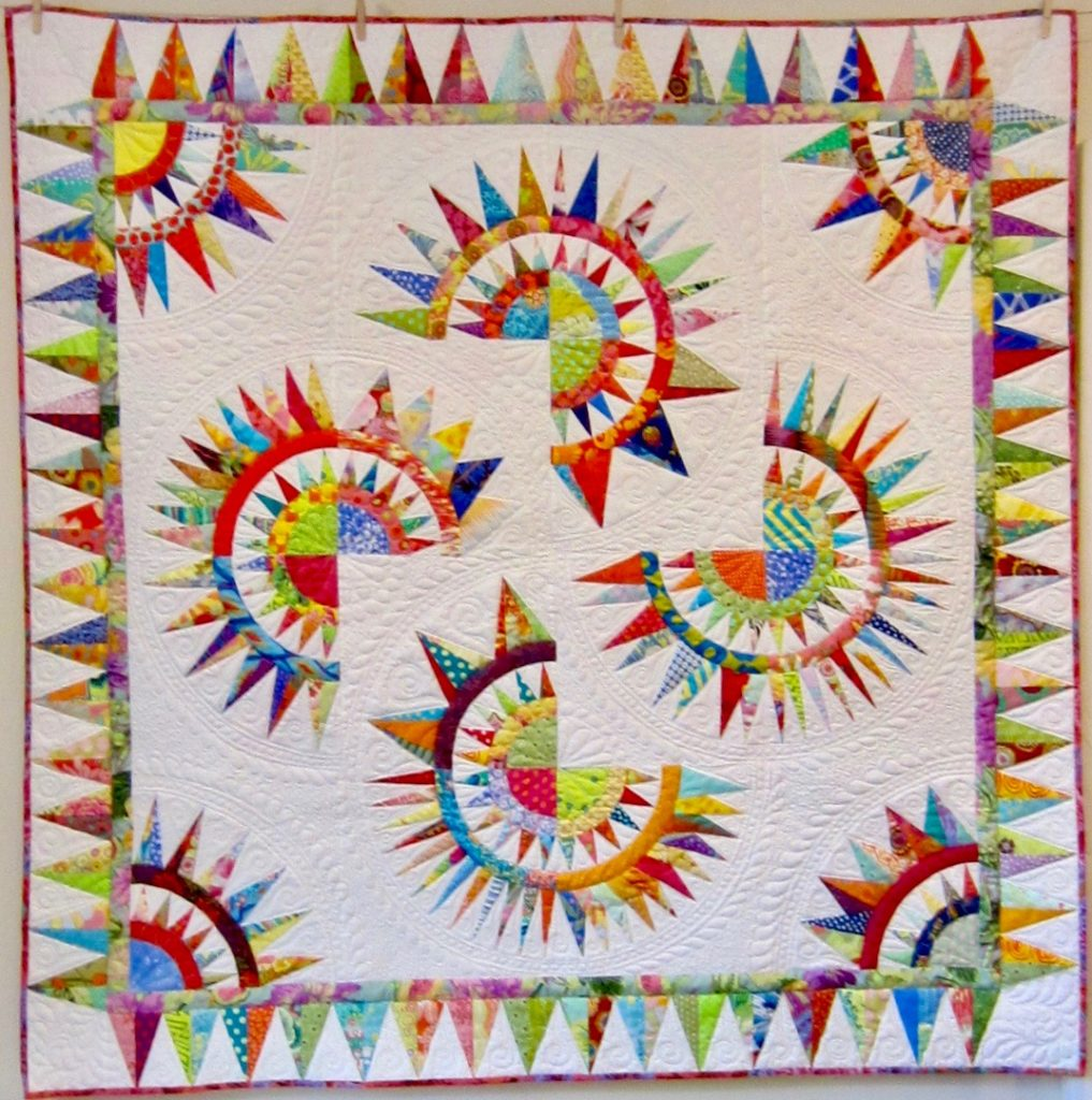 South County Beauty by Banne Greene, Block of the Month from Folk Art Quilts in Wakefield, RI